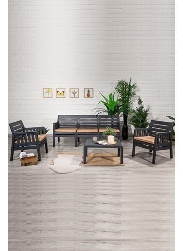 Sandalie Lara 3+1+1+S Balkon&Teras&Bahçe Mobilyası / Antrasit Antrasit